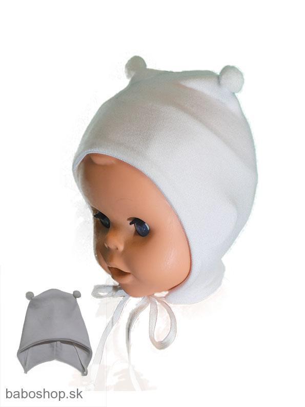 de95ebdaa Čiapky   GAJI / Čiapka kojenecká s bambuľkou- biela   Detské ...
