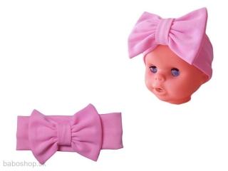 a36843a81a23 GAJI   Čelenka kojenecká s mašľou - ružová